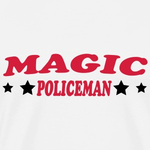 Magic policeman T-shirts - Herre premium T-shirt