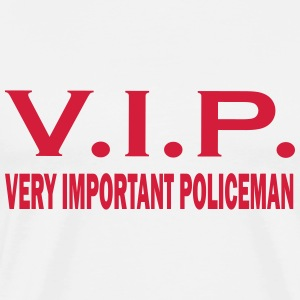 Very important policeman T-shirts - Herre premium T-shirt