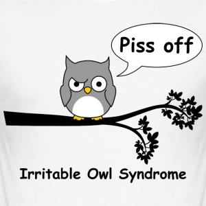 Irritable owl syndrome 1 T-Shirts - Men's Slim Fit T-Shirt