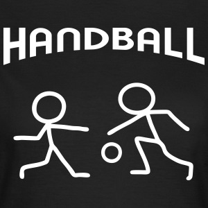 Stick Figure Handball Match T-Shirts - Women's T-Shirt