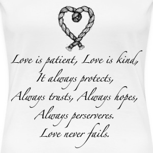 Love is patient..(with heart) - Women's Premium T-Shirt