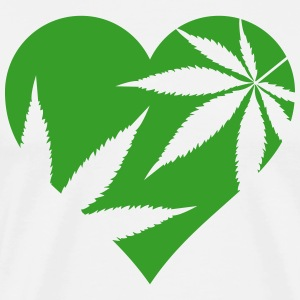 cannabis love T-Shirts - Men's Premium T-Shirt