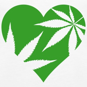 cannabis love Tops - Women's Premium Tank Top