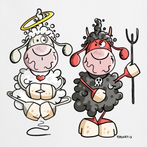 Moutons Diable Vs Anges Tabliers - Tablier de cuisine