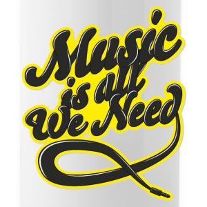 Music Is All We Need Mugs & Drinkware - Water Bottle