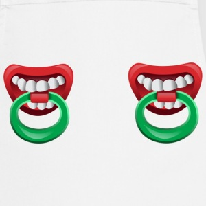 Nipple Rings with teeth  Aprons - Cooking Apron