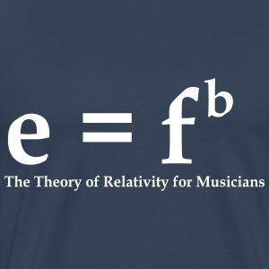E=fb, theory of relativity for musicians T-Shirts - Männer Premium T-Shirt