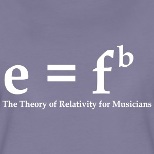 E=fb, theory of relativity for musicians Camisetas - Camiseta premium mujer
