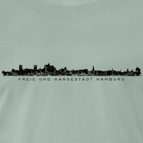 Hamburg Skyline mit Elbphilharmonie (Schwarz)