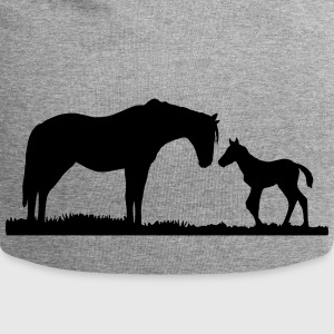 horses, horse, foal Caps & Hats - Jersey Beanie