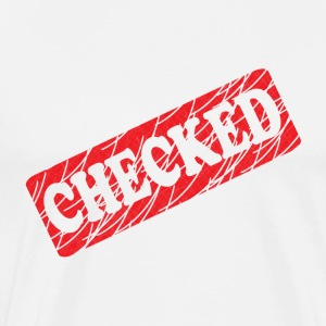 Checked T-Shirts - Men's Premium T-Shirt