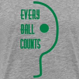 table tennis: every ball counts T-shirts - Mannen Premium T-shirt