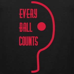 table tennis: every ball counts Tank Tops - Männer Premium Tank Top