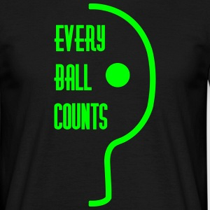 table tennis: every ball counts T-shirts - Herre-T-shirt
