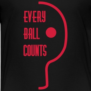 table tennis: every ball counts T-Shirts - Teenager Premium T-Shirt