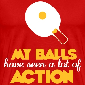 my balls have seen a lot of action T-shirts - Premium-T-shirt herr