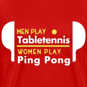 men play table tennis women play ping pong T-shirts - Premium-T-shirt herr