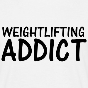 weightlifting addict T-Shirts - Men's T-Shirt