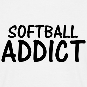 softball addict T-Shirts - Men's T-Shirt