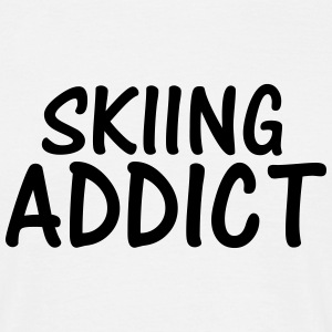 skiing addict T-Shirts - Men's T-Shirt
