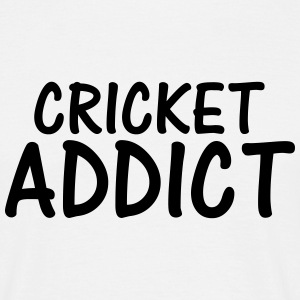 cricket addict T-Shirts - Men's T-Shirt