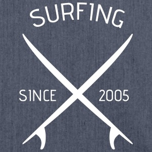 Stofftasche, surfing since 2005 - Schultertasche aus Recycling-Material