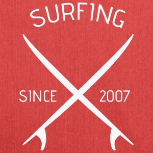Stofftasche, surfing since 2007 - Schultertasche aus Recycling-Material