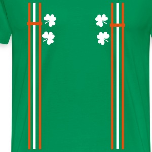 Irish shoulder strap shamrocks Men's Premium T-S - Men's Premium T-Shirt