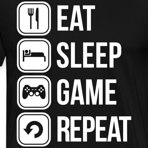 eat sleep game repeat spiele