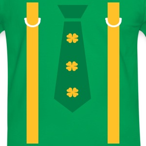 shamrocks tie shoulder strap st.Patty's Men's Ring - Men's Ringer Shirt