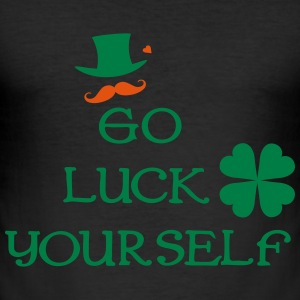 Go luck yourself mustahcne man Men's Slim Fit T-Sh - Men's Slim Fit T-Shirt