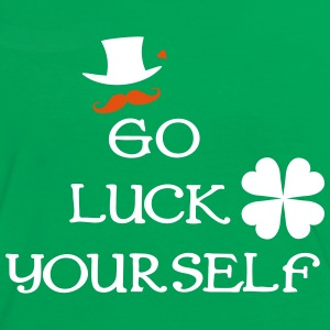 Go luck yourself shamrocks Women's Ringer T-Shirt - Women's Ringer T-Shirt
