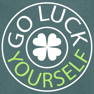 Go luck yourself st.Patty's day Men's V-Neck T-S - Men's V-Neck T-Shirt