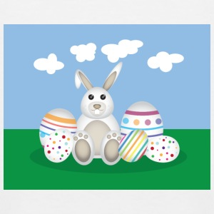Easter Bunny with Eggs Shirts - Kids' Baseball T-Shirt