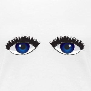Bright Blue Eyes T-Shirts - Women's Premium T-Shirt