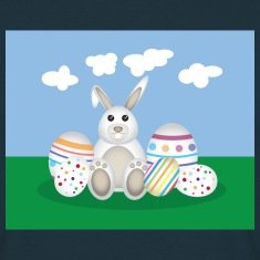 Easter Bunny with Eggs T-Shirts