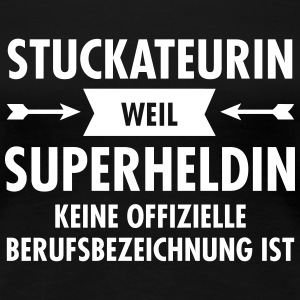 Stuckateur - Superheldin T-Shirts - Frauen Premium T-Shirt
