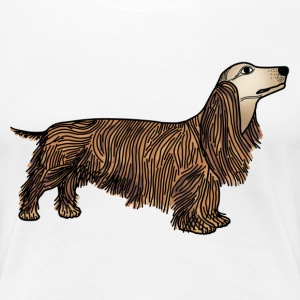 Long haired dachshund t-shirt for women - Women's Premium T-Shirt