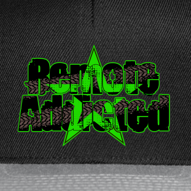 Remote Addicted Slime Snapback Cap