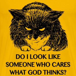 bad cat atheist T-shirts - Premium-T-shirt herr
