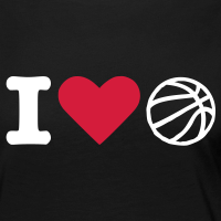 Zoom: Women's Premium Longsleeve Shirt with design I love basketball