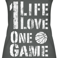 Zoom: Women's Organic Tank Top by Stanley & Stella with design One Life. One Love. One Game. (used look)