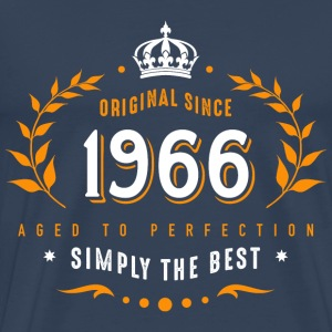 original since 1966 simply the best 50th birthday T-Shirts - Männer Premium T-Shirt