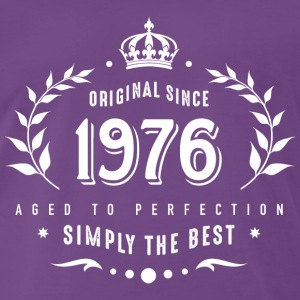 original since 1976 simply the best 40th birthday T-Shirts - Männer Premium T-Shirt