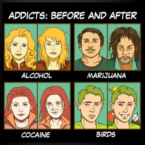 Bird addicts meme - Full Colour Mug