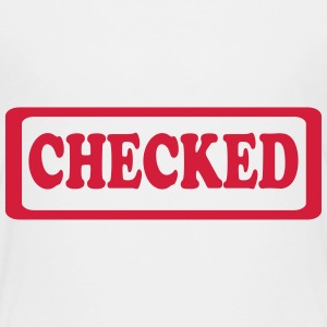 Checked stamp style Shirts - Kids' Premium T-Shirt