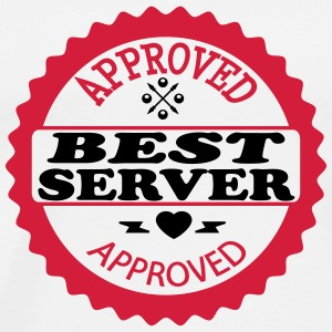 Approved best server T-Shirts - Männer Premium T-Shirt