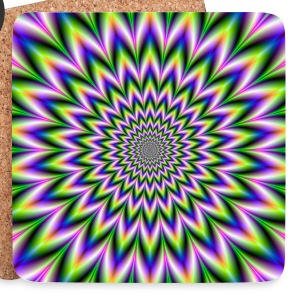 Hypnotic Star Flower - Coasters (set of 4)