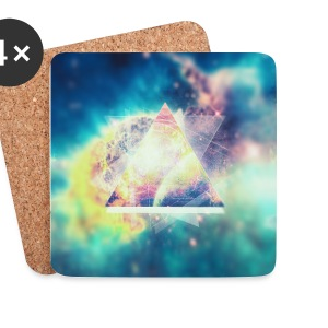 Geometrie Space Kunst (Hipster Green) - Handycase Mugs & Drinkware - Coasters (set of 4)