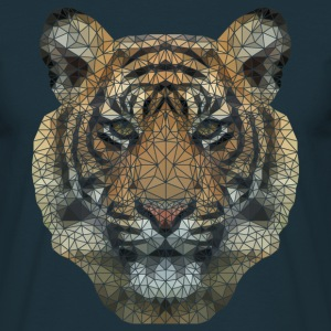 Polygon Tiger Transparent T-Shirts - Men's T-Shirt